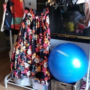 NWOT Free People floral wrap skirt/dress